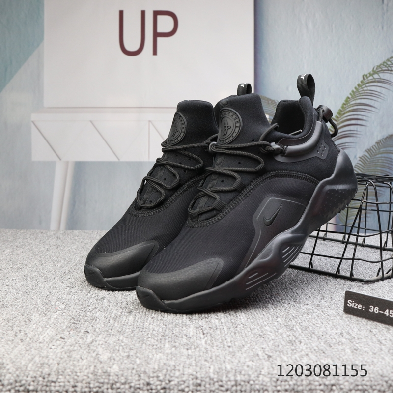 2020 Men Nike Air Huarache 8 All Black Shoes
